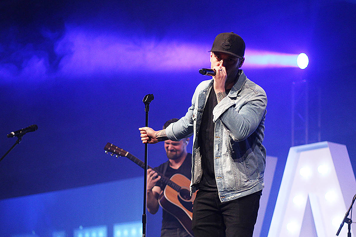 """Langley-based musician Dallas Smith, pictured during the """"One Night in the Valley"""" fundraiser at Cloverdale Agriplex in 2019, will headline the Lifted Hotel Festival in Vancouver this September. (File photo: Lauren Collins)"""