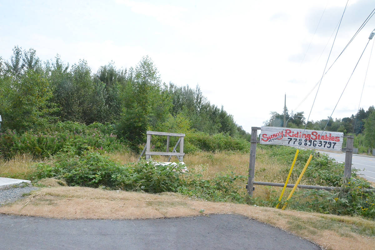The current riding ring on the site the Township is proposing for a one-mile race track that could replace both Hastings Park and Fraser Downs. (Matthew Claxton/Langley Advance Times)