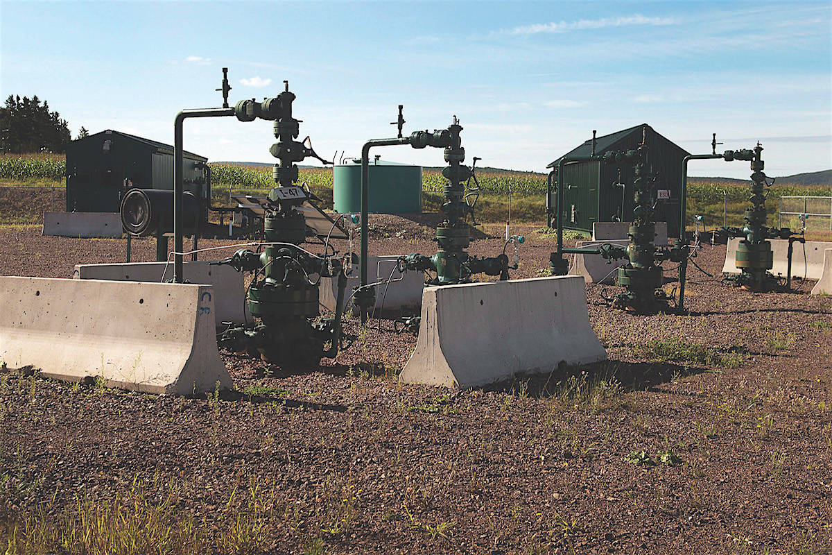Natural gas well pad in the rural community of Penobsquis, N.B. in 2014. B.C.'s gas development is centred on the northeast of the province, greatly expanded in recent years with development of shale gas deposits. THE CANADIAN PRESS/Andrew Vaughan