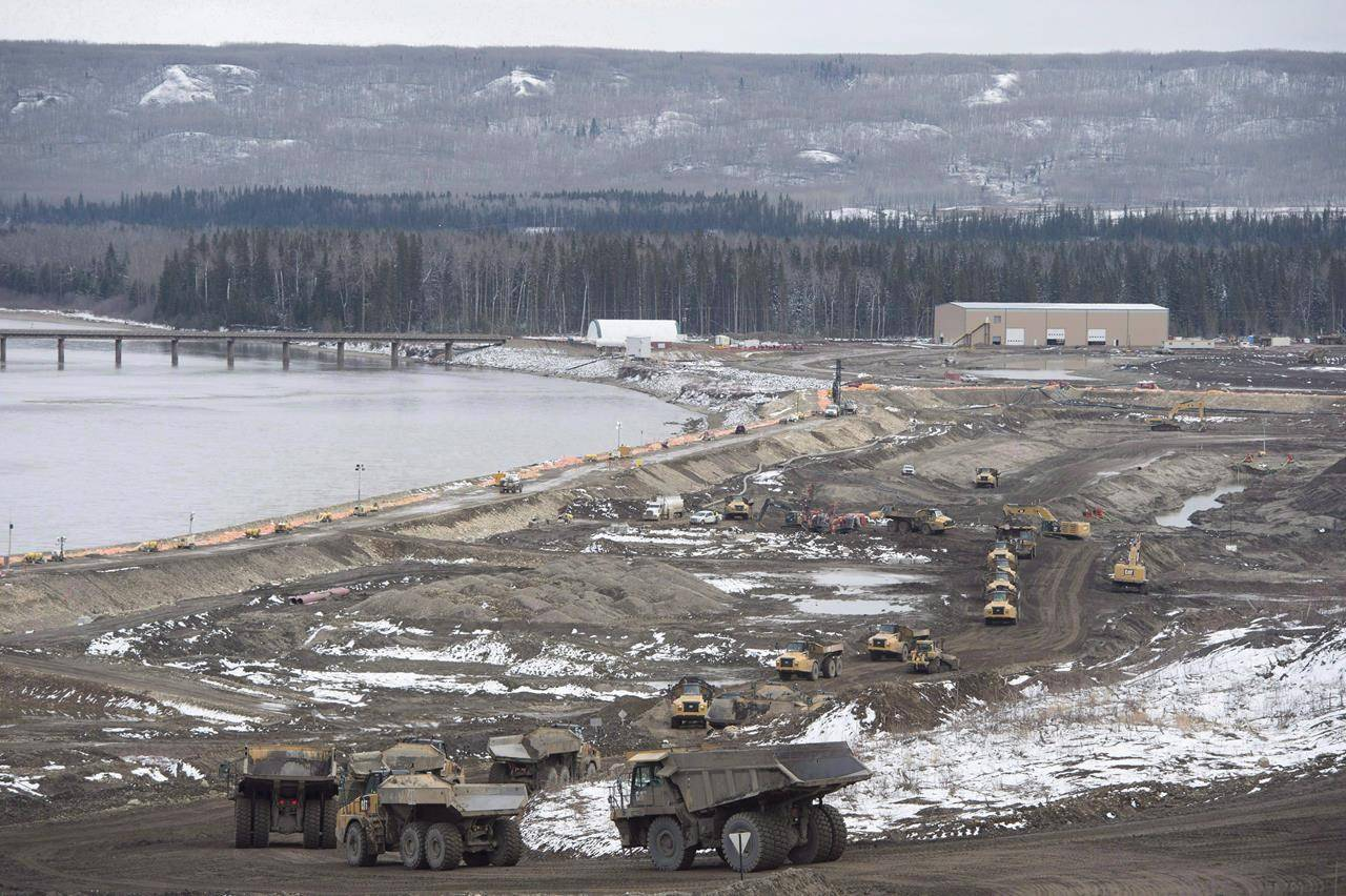 The Site C Dam location is seen along the Peace River in Fort St. John, B.C., on April 18, 2017. The chief of a B.C. First Nation that won a landmark court case called on the provincial government to respect the decision ordering the province to stop authorizing industrial developments on the nation's territory. THE CANADIAN PRESS/Jonathan Hayward