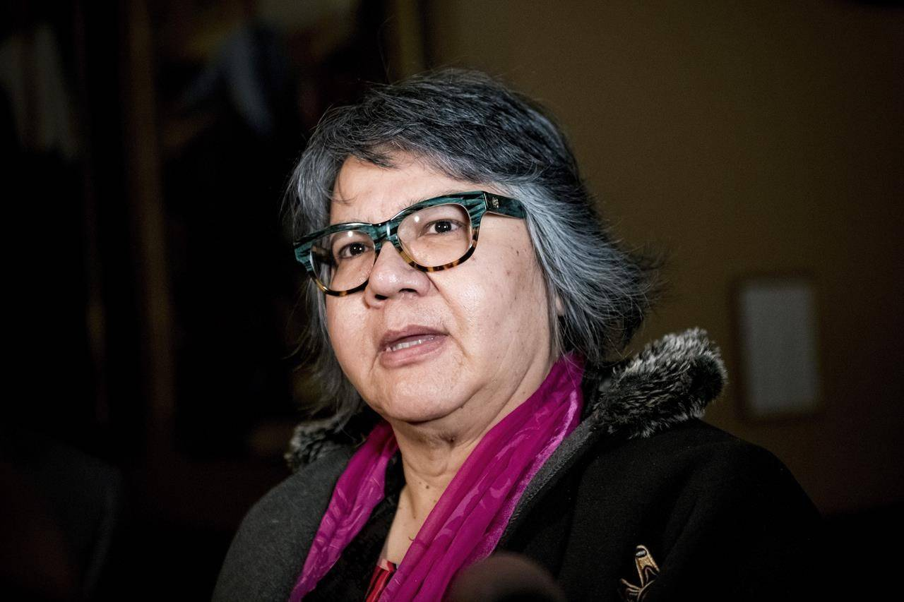 Ontario Regional Chief RoseAnne Archibald speaks with reporters before meeting with Ontario Premier Doug Ford at Queen's Park in Toronto, on Tuesday, June 4, 2019. RoseAnne Archibald of Ontario will be the first woman to serve as national chief of the Assembly of First Nations. THE CANADIAN PRESS/Christopher Katsarov