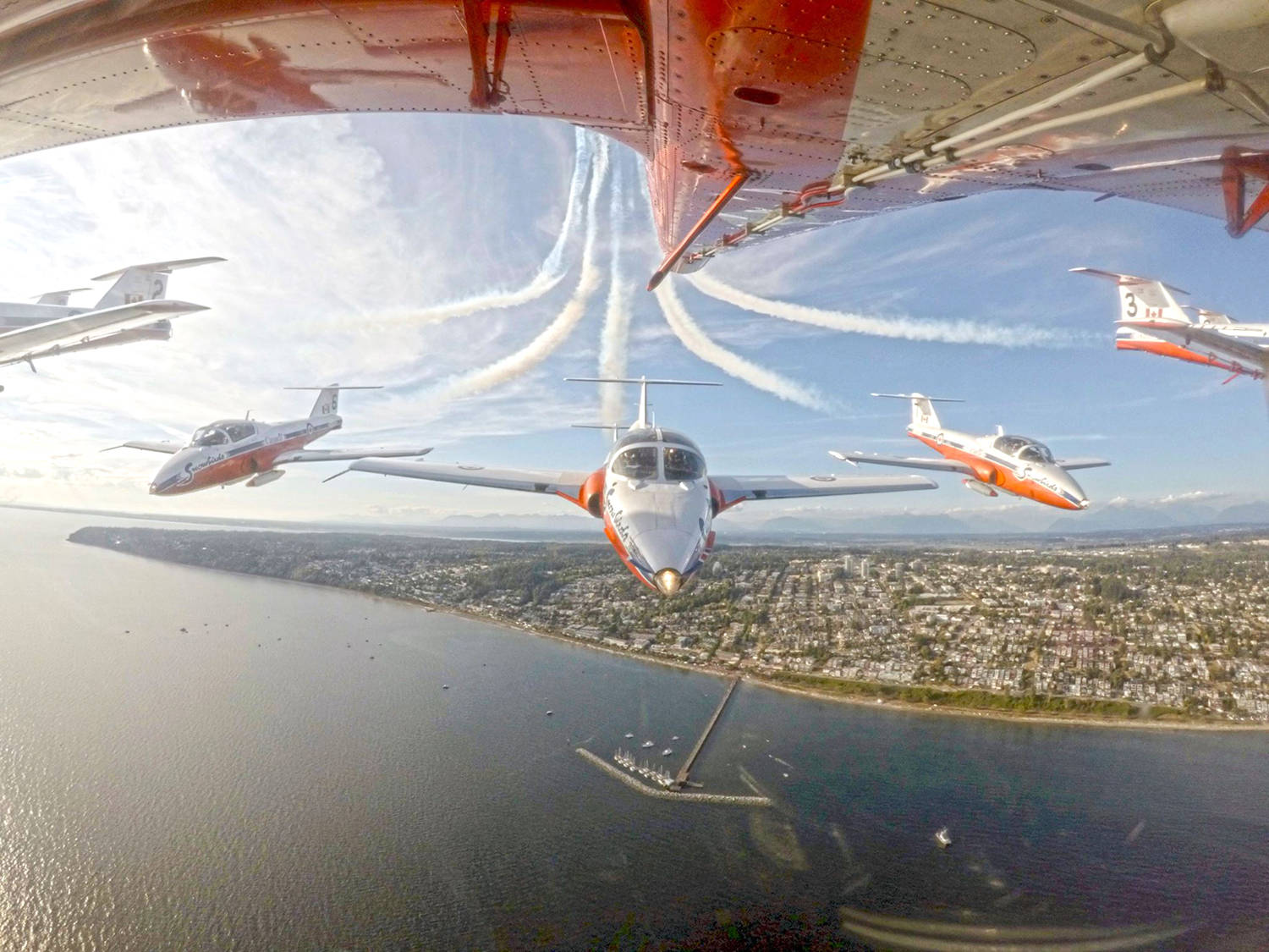 The last time the Snowbirds performed in White Rock was Aug. 16, 2017. (Canadian Forces Snowbirds photo)