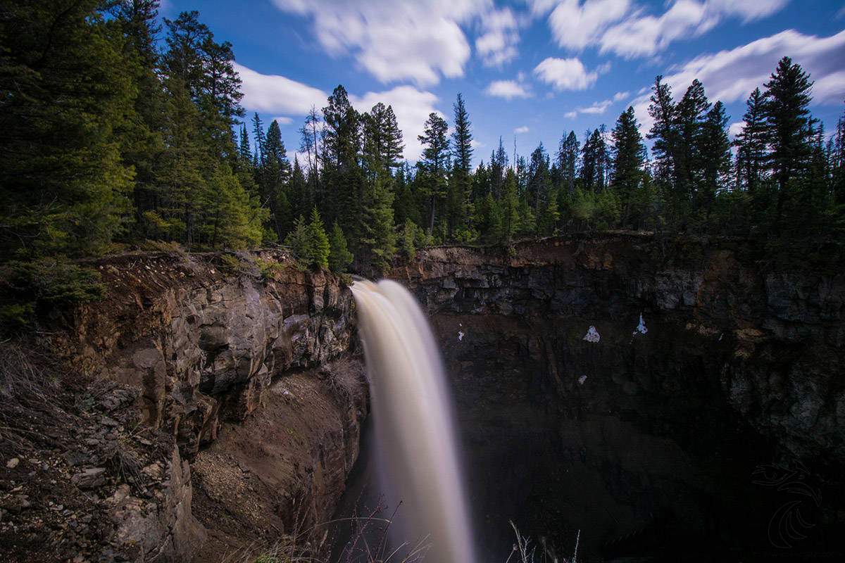 Deadman Falls before the Sparks Lake wildfire. (Skeetchestn Natural Resources)