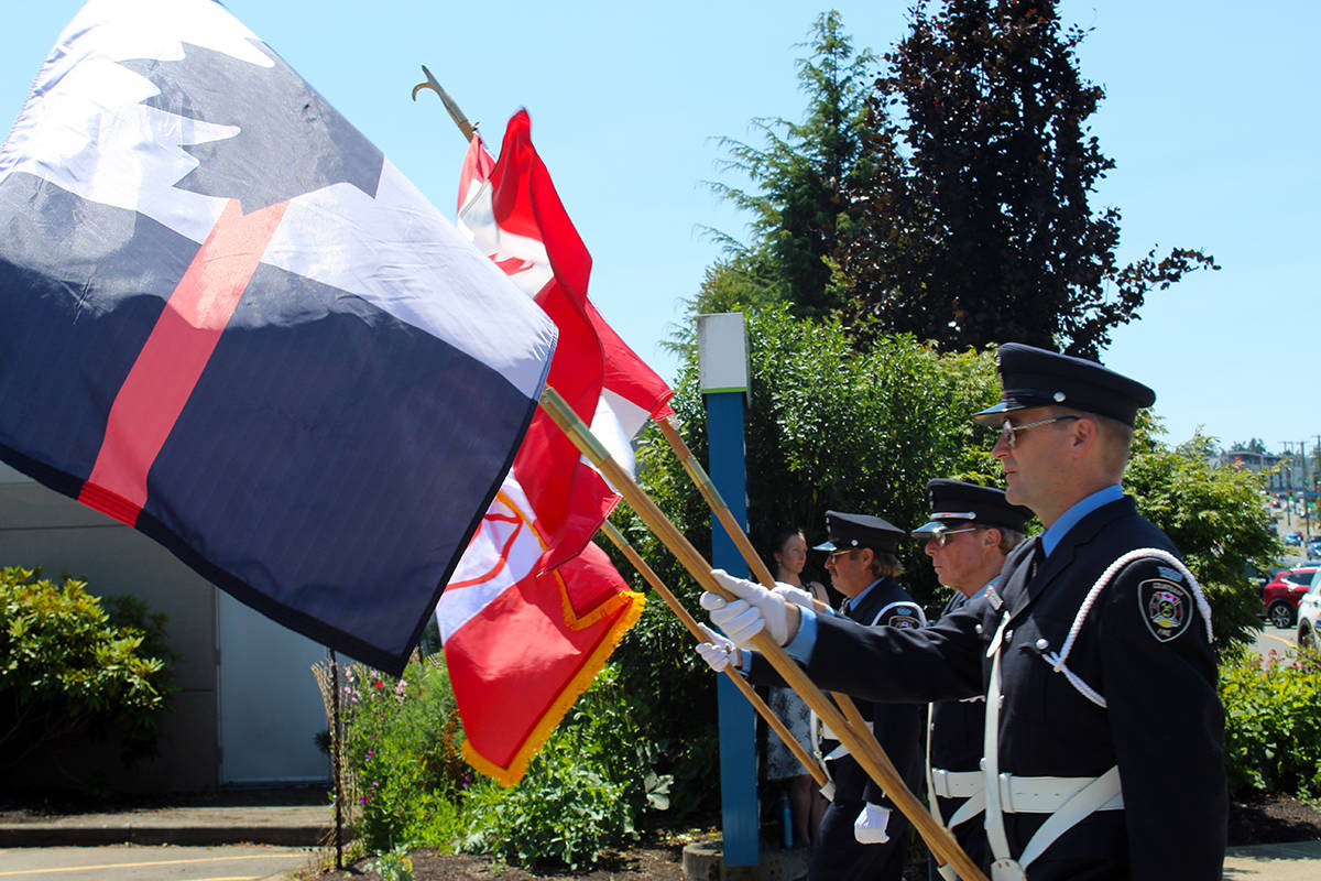 Colwood Fire Chief John Cassidy memorial service held on July 10. (Black Press Media file photo)