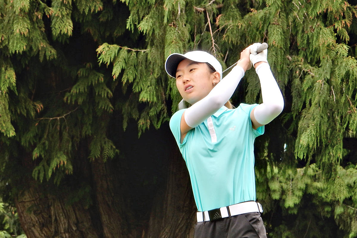 17-year-old Sueah Park of Langley took the MJT Girls 15-19 division after the fourth playoff hole in a three-way playoff on July 6-7 at the Chilliwack Golf and Country Club. (MJT)