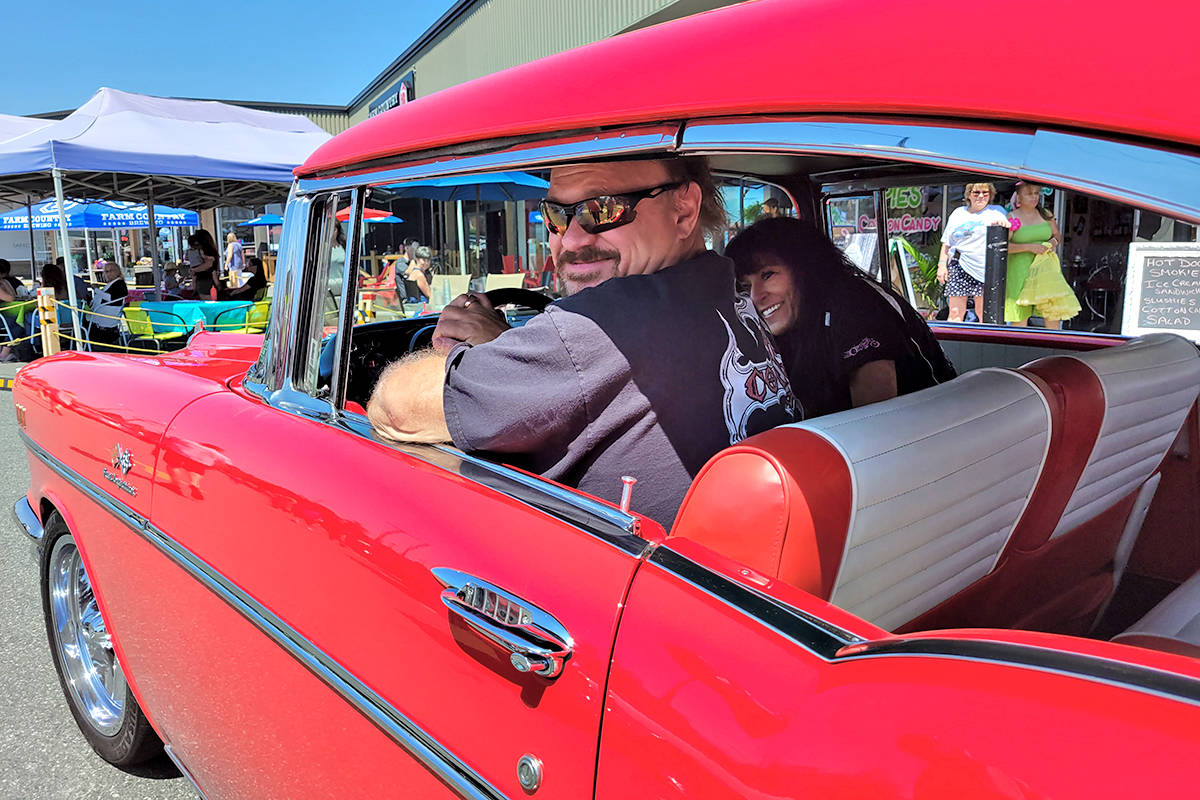 One of 60 vehicles that took part in the annual cancer fundraiser organized by the Old Fart Car Club and Brogan's Diner in Langley City on Saturday, July 10. (Dan Ferguson/Langley Advance Times)
