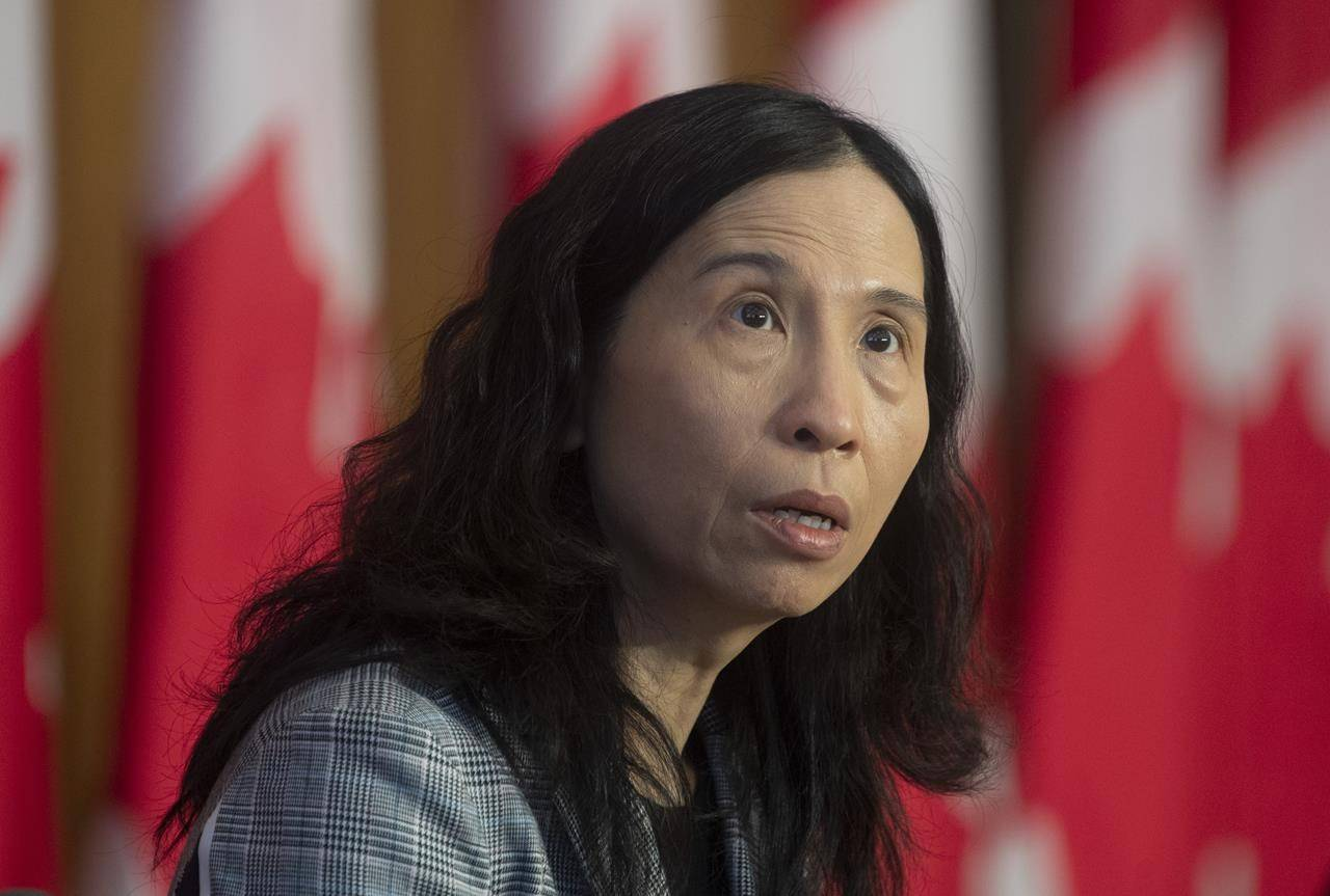 Dr. Theresa Tam, the chief public health officer, speaks during a technical briefing on the COVID pandemic, in Ottawa, Friday, Jan. 15, 2021. Dr. Tam says she is concerned that vaccination rates among younger Canadians aren't high enough. THE CANADIAN PRESS/Adrian Wyld