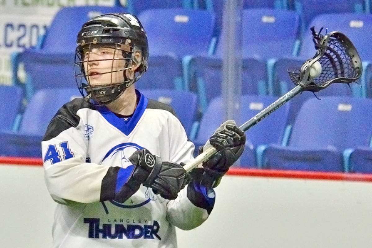 Despite a hat trick from Braiden Struss, the Langley Thunder returned home from Victoria empty-handed. (file)