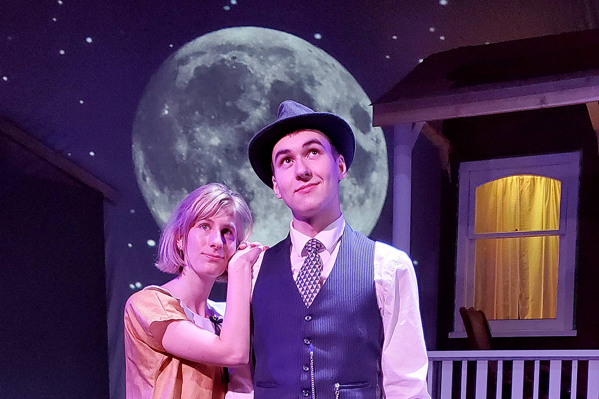 Hannah Everett and Tyler Boe (of Pitt Meadows) star in Theatre in the Country's upcoming production of Salt-Water Moon. (Reg Parks/Special to The News)