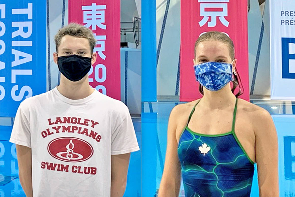 Hugh McNeill and Bailey Herbert were top-10 finishers at the Olympic trials in Toronto in June. (Special to Langley Advance Times)