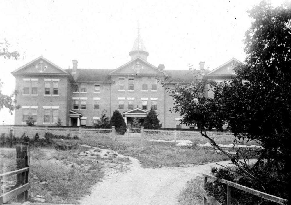 Photo of Kuper Island Residential School taken in the 1920s. (B.C. Archives photo)