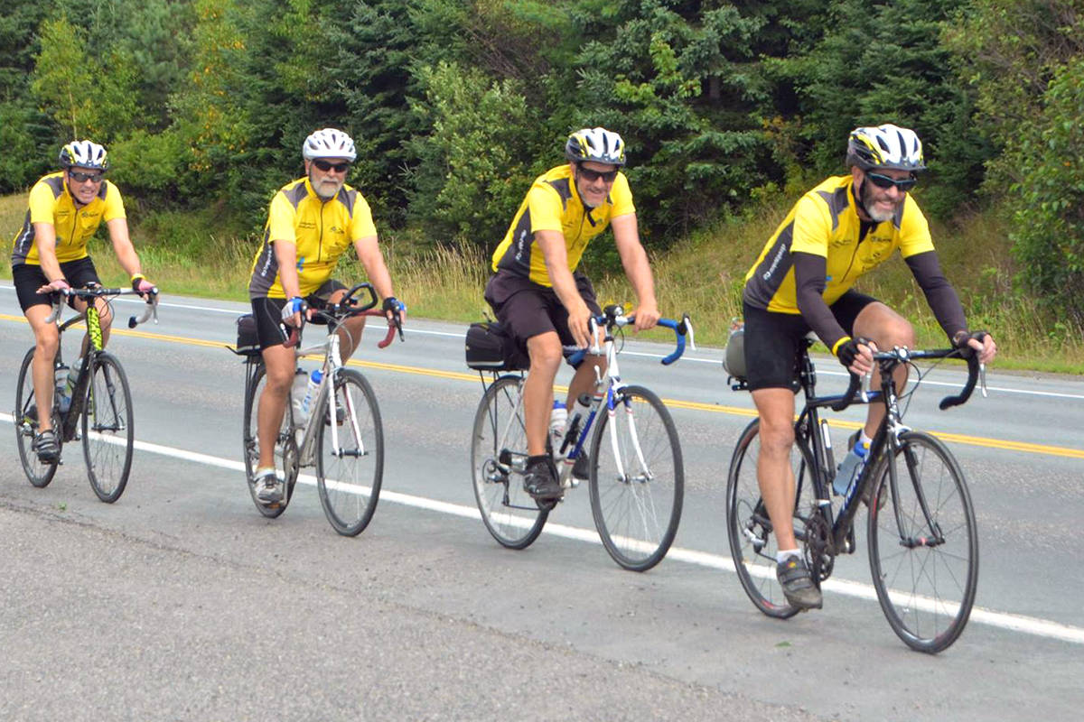 On Monday, July 19, a group of cyclists will set out from Abbotsford on a 65-day ride across Canada to raise awareness and funds for 65 life-giving wells in Africa, in partnership with Langley-based Global Aid Network (GAiN). Seen here is the 2014 ride. (Special to Langley Advance Times)