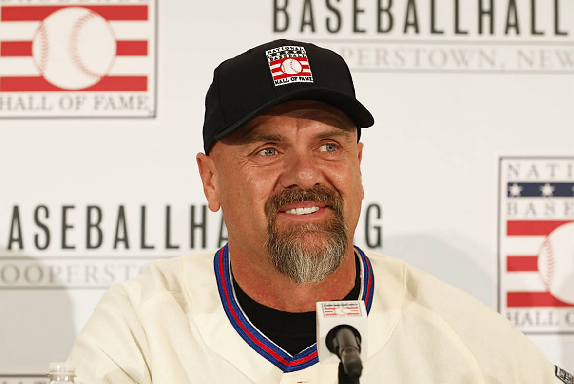"""Larry Walker Jr., a former Colorado Rockies player, will not attend all-star events in Denver this week after being """"bit"""" by COVID-19. (National Baseball Hall of Fame)"""