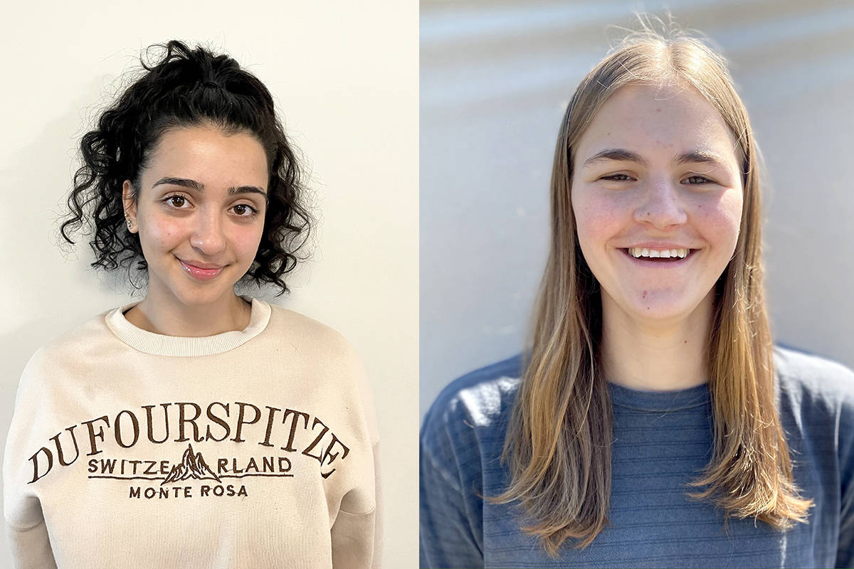 Setare Maleki, graduate of R.E. Mountain Secondary, (left) and Kyra Steinthorson, graduate of Langley Fine Arts School, (right) were awarded a Beedie Luminaries scholarship of up to $40,000. (Beedie Luminaries/Special to Langley Advance Times)