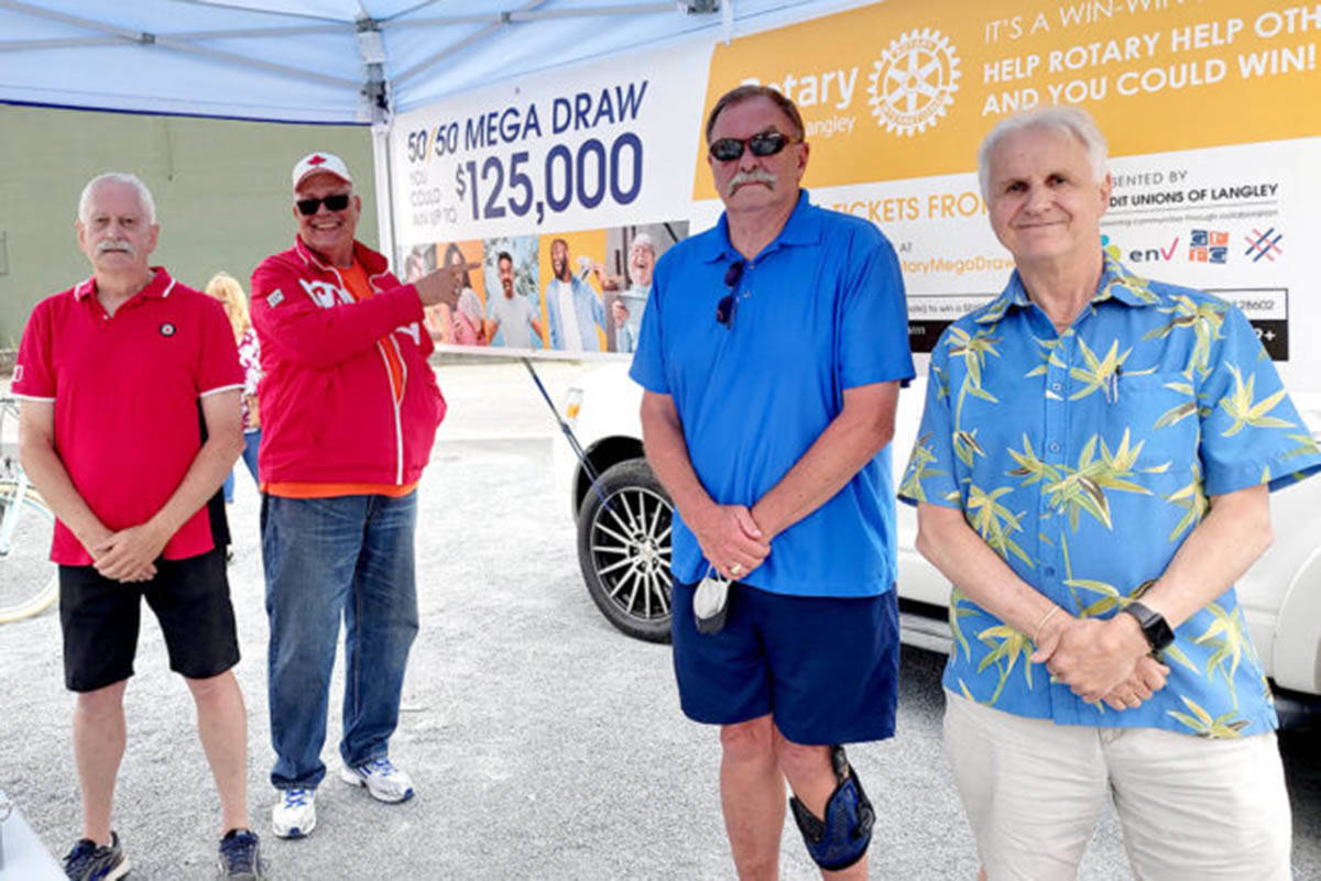 Volunteers hit the streets of Langley and Aldergrove selling Rotary Lottery tickets. (Aldergrove Star files)