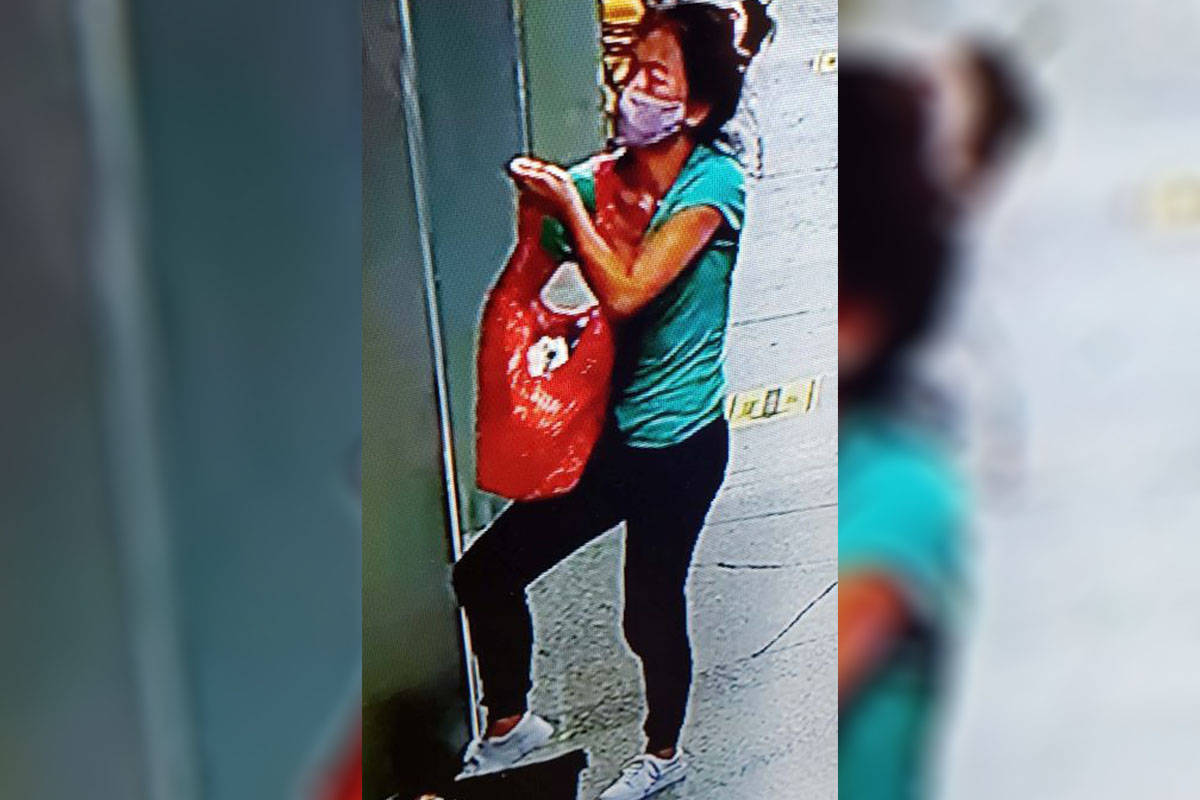 The pictured woman is alleged to have stolen a wallet while at the No Frills store in Langley City on June 2nd. (Langley RCMP)