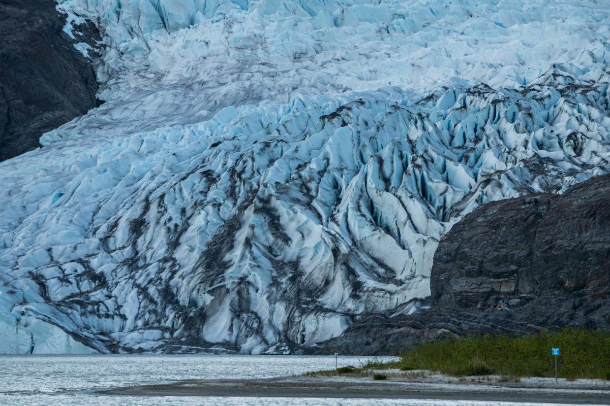 The Mendenhall Glacier, seen in May 2016. (Angelo Saggiomo/Juneau Empire)