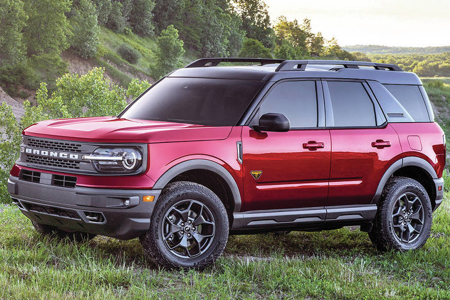 The Ford Bronco Sport platform is the basis for the Maverick small truck that arrives for the 2022 model year. Expect the same engines. PHOTO: FORD