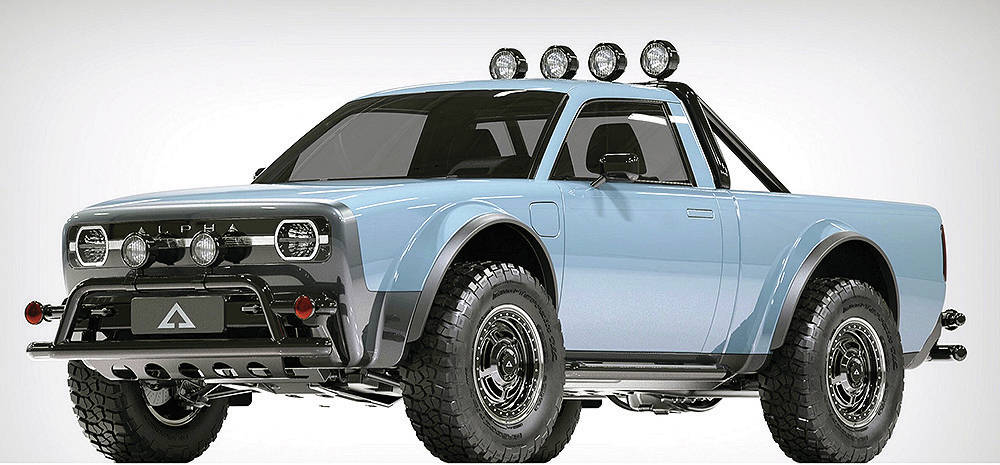 The Alpha Wolf is an electric pickup that comes in front- and all-wheel-drive models. Look for it for the 2023 model year. PHOTO: ALPHA MOTORS