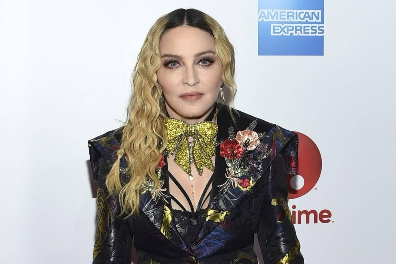 """FILE - Madonna appears at the 11th annual Billboard Women in Music honors in New York on Dec. 9, 2016. Streaming service Paramount+ has landed a documentary that offers a glimpse into the personal life of Madonna and her work on the road.The streaming arm of ViacomCBS said Thursday that """"Madame X"""" will make its debut in the U.S., Latin America, Australia, Nordic countries and Canada beginning Oct. 8. (Photo by Evan Agostini/Invision/AP, File)"""