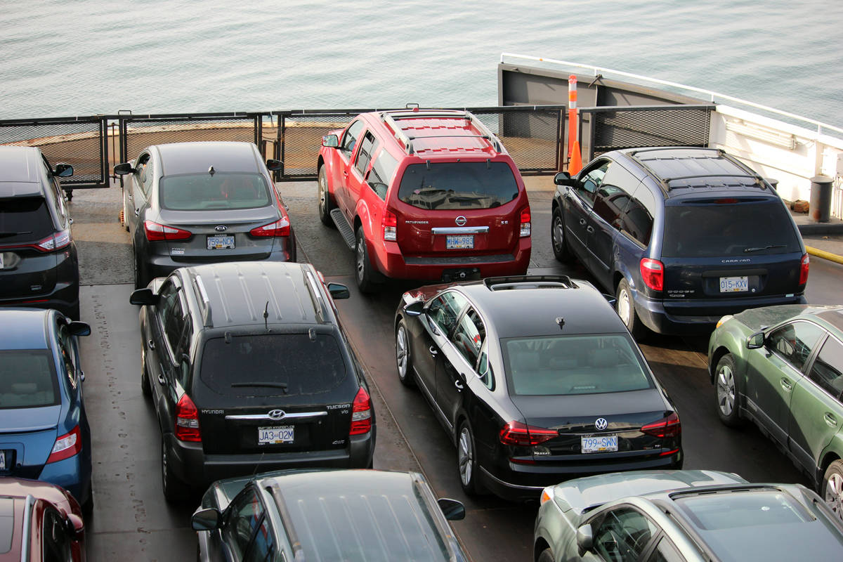 Rising fuel prices will see ferry customers receive a reduced fuel rebate beginning Aug. 1, BC Ferries says. (Black Press file photo)