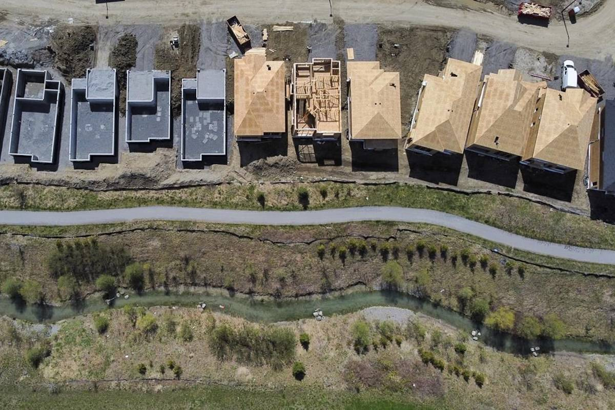New homes are built in a housing construction development in the west-end of Ottawa on Thursday, May 6, 2021. THE CANADIAN PRESS/Sean Kilpatrick