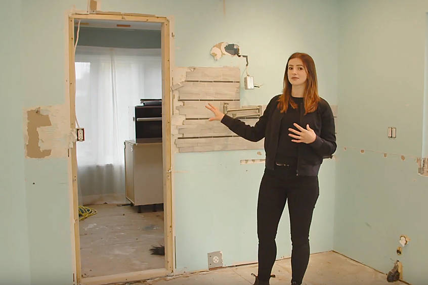 South Surrey interior designer Madelaine Sloback and her husband are doing a full renovation of their new home – and  documenting the process through a new YouTube video series. (YouTube screengrab)
