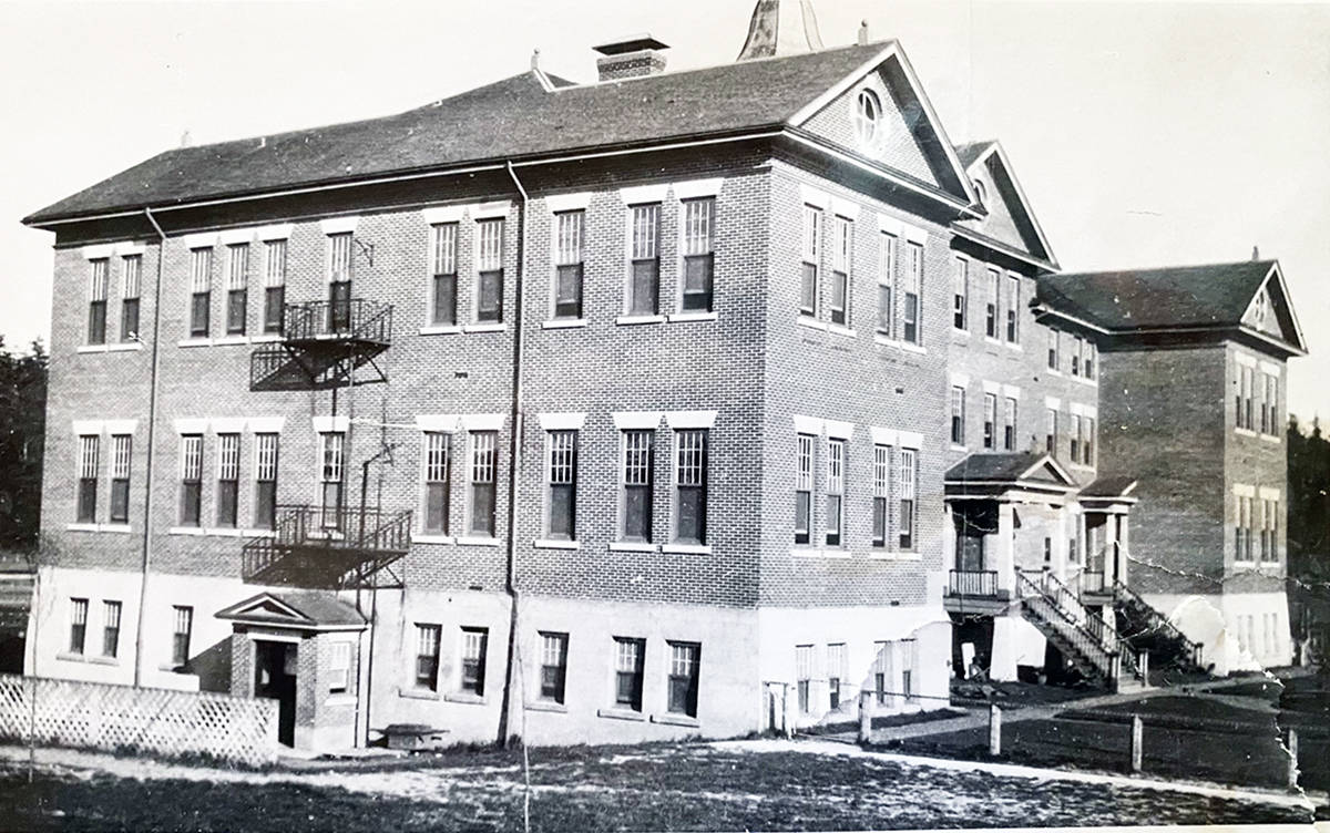The Kuper Island residential school as it looked in 1917. (B.C. Archives photo)