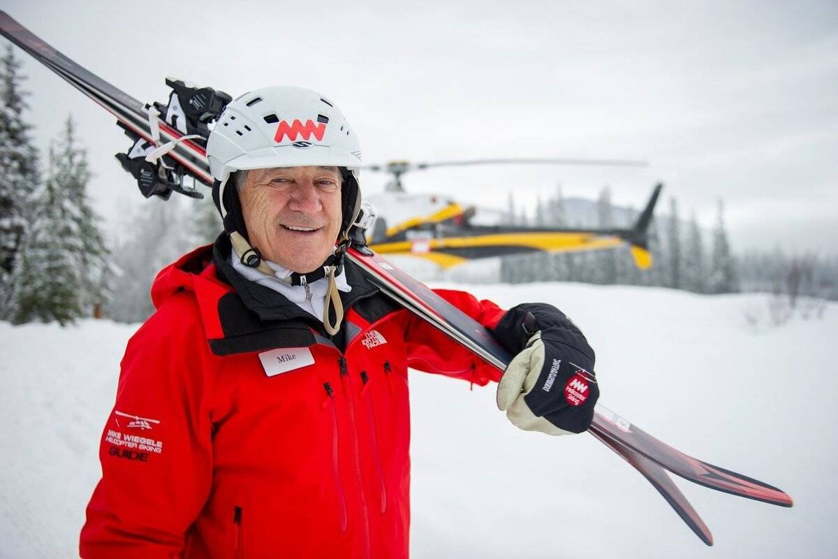 Mike Wiegele died July 15, 2021, at age 82. (Mike Wiegele's Helicopter Skiing / Facebook)