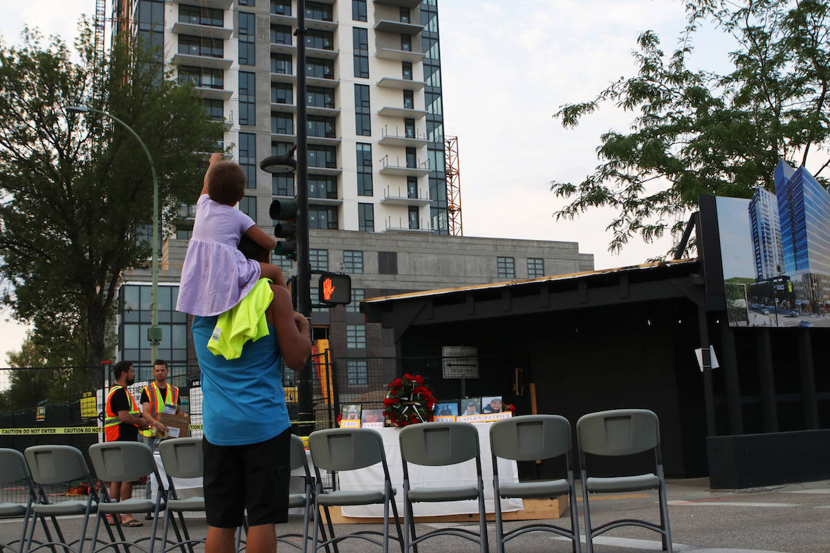 The site of the vigil, prior to its commencement. (Aaron Hemens/Capital News)