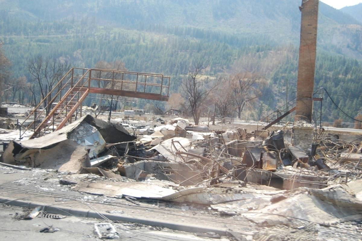 There is nothing left of the property immediately to the south of the Lytton post office. (Photo credit: Barbara Roden)