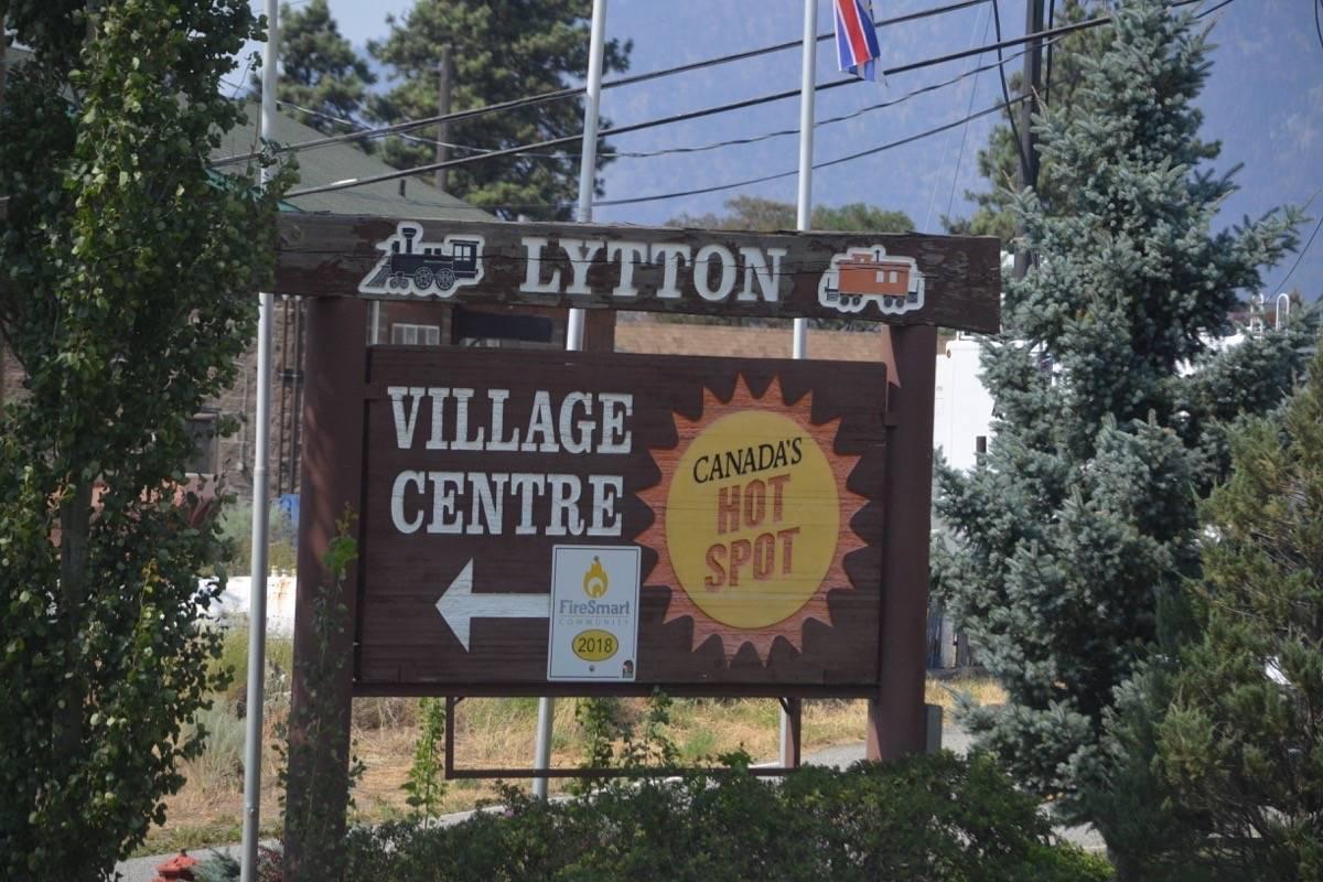 Entrance sign to Lytton, July 9, 2021. (Photo credit: Barbara Roden)