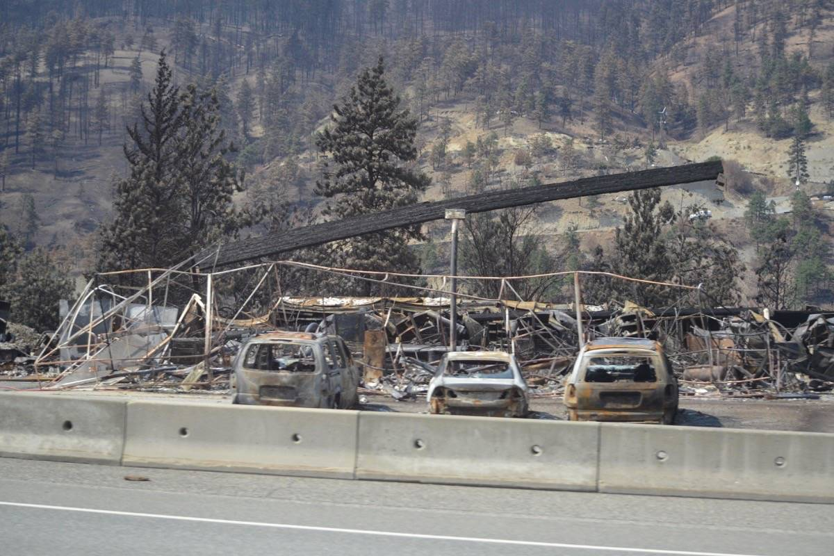 Jade Springs was initially a staging point for first responders during the June 30 fire, but it quickly became untenable, and crews pulled back to Spences Bridge, a half-hour drive north. (Photo credit: Barbara Roden)