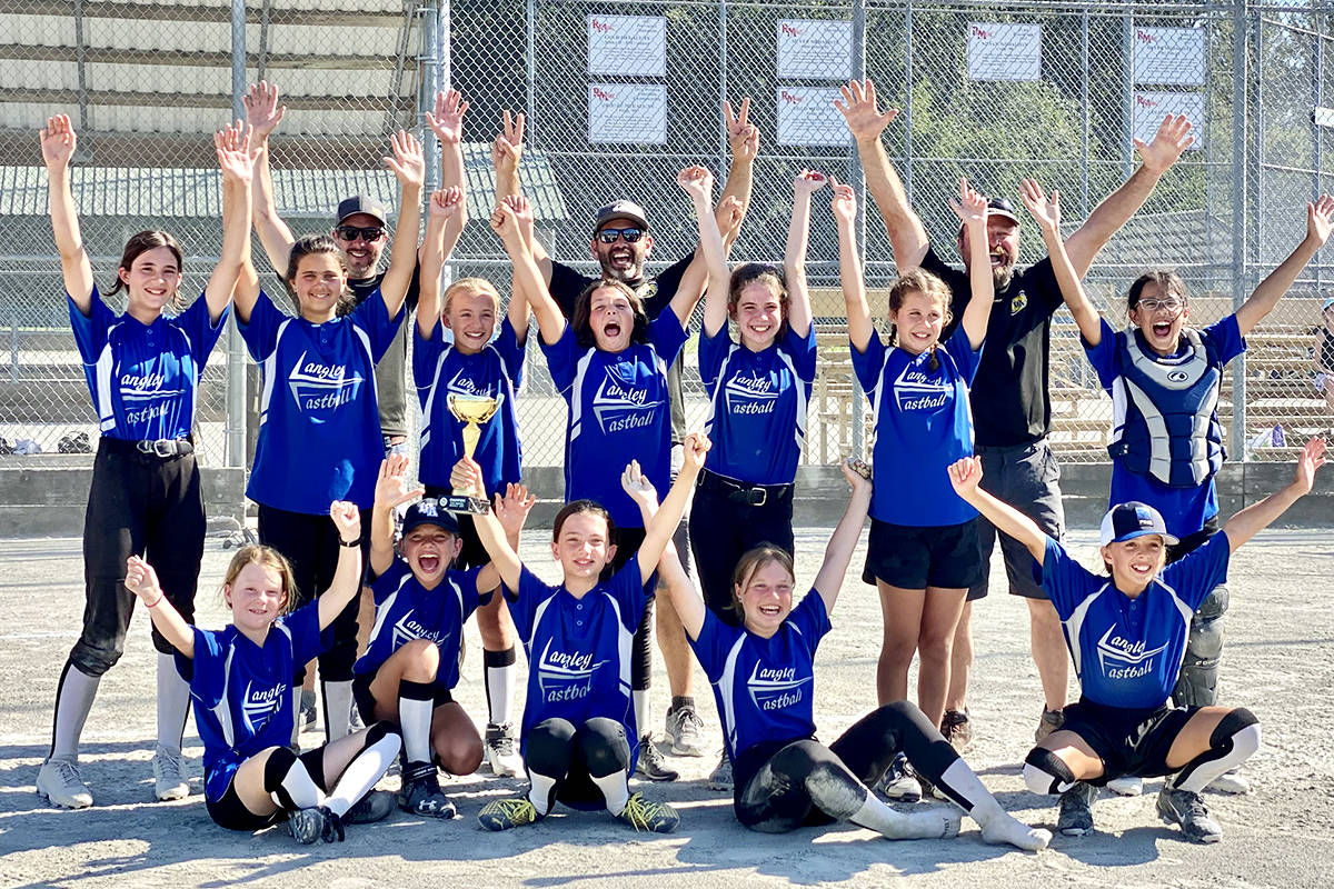 Stellar Jays celebrated their win at the U12C Stellar Region 3 provincial championships on July 11 at the Albion Sports Complex in Maple Ridge. (Special to Langley Advance Times)