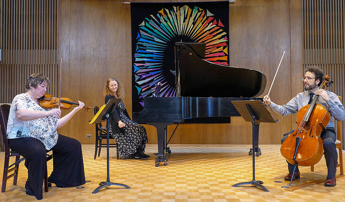 West Coast Chamber Music's Angela Cavadas, Holly Duff, Alex Kramer will be performing at Langley Community Music School on Sunday, July 18. (Special to Langley Advance Times)