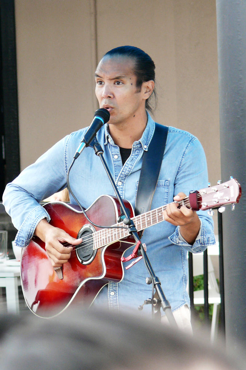 Vancouver singer-songwriter David Capper performed Saturday afternoon, July 17, at Langley City's McBurney Plaza. The first outdoor concert in under new drinking rules was declared a 'huge success' (Dan Ferguson/Langley Advance Times)