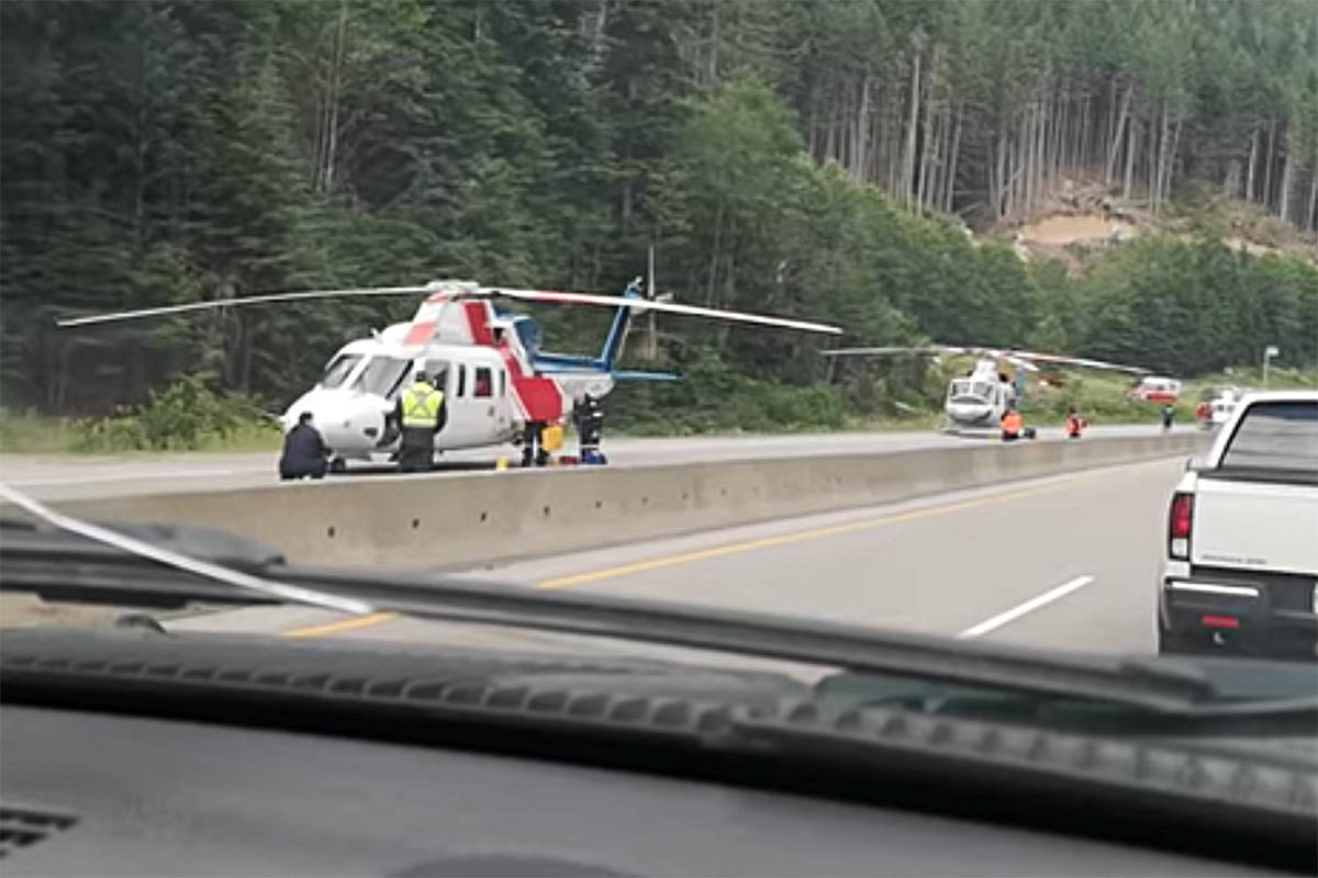 A serious crash on the Coquihalla July 17 claimed the life of one woman and left several, including children in critical condition. (File photo)