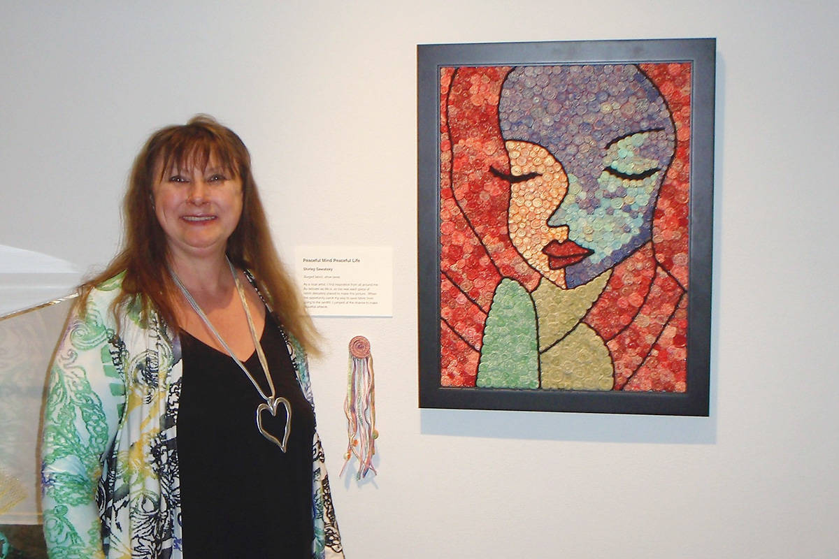 Langley's Shirley Sawatsky has entered the Upcycle Challenge various times over the years and this year won second place for her piece. (Sawatsky photo)
