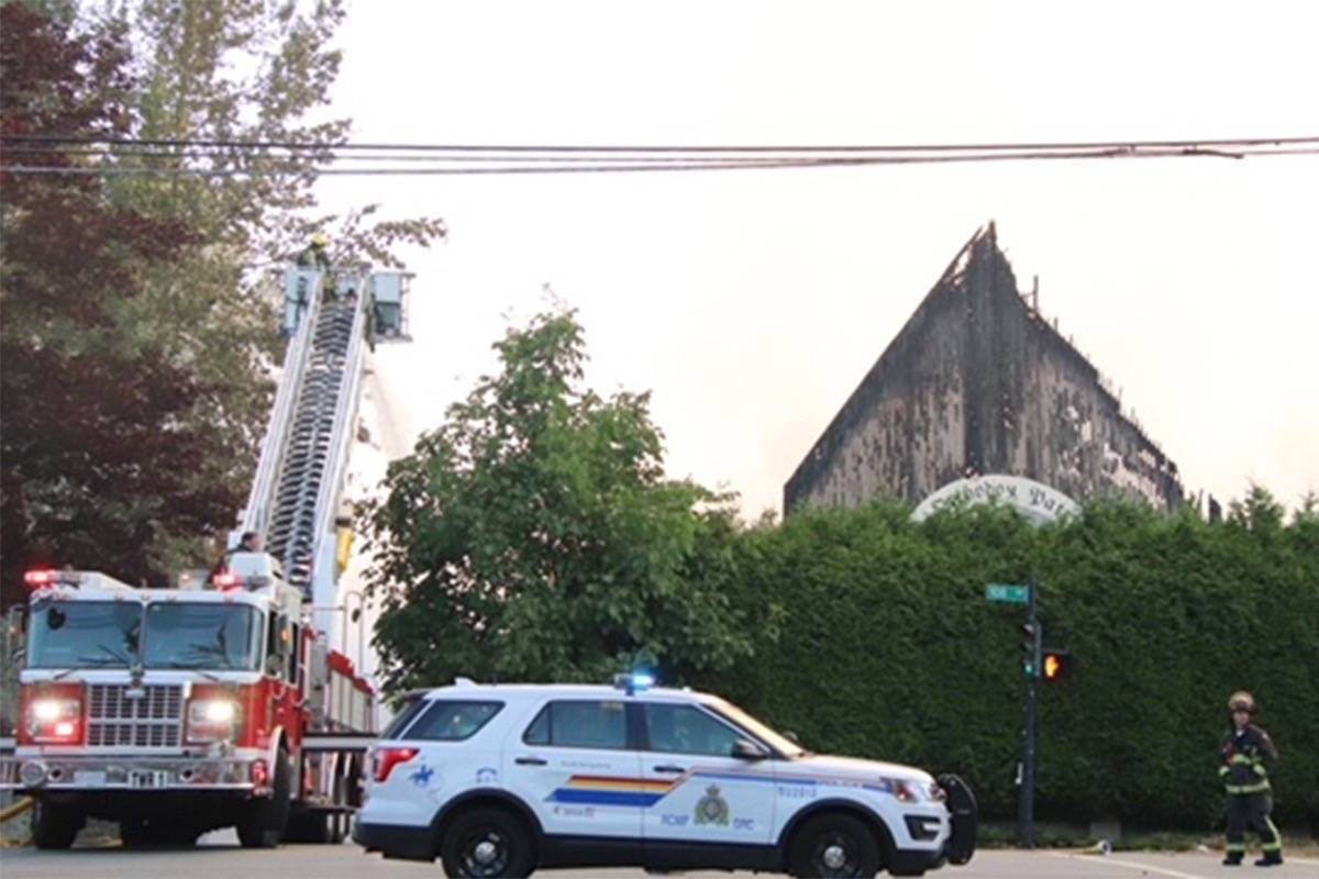 Aftermath of fire that destroyed St. George Coptic Orthodox Church in Whalley on July 19. (Photo: Shane Mackichan)