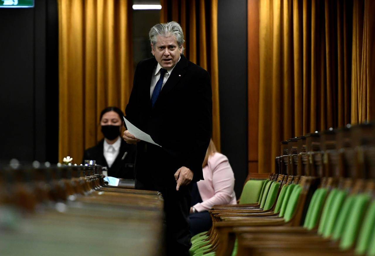 NDP MP Charlie Angus rises during question period in the House of Commons on Parliament Hill in Ottawa on Wednesday, June 16, 2021. The MP's request for documents related to a new regulator that will handle child pornography and exploitive material could take over half a decade for government to process.THE CANADIAN PRESS/Justin Tang