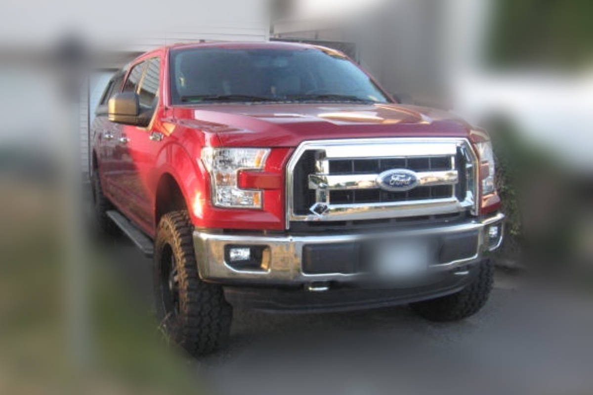 IHIT officers are asking for public tips from anyone who recognizes this red Ford F-150 pickup truck. (IHIT)