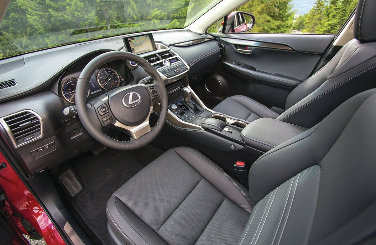 The centre stack/console is very busy with buttons, switches, knobs, a shift lever, a dial clock and a touchy track pad that controls the screen functions. We would suggest you not fiddle with this while driving, at least until you get used to it. PHOTO: LEXUS