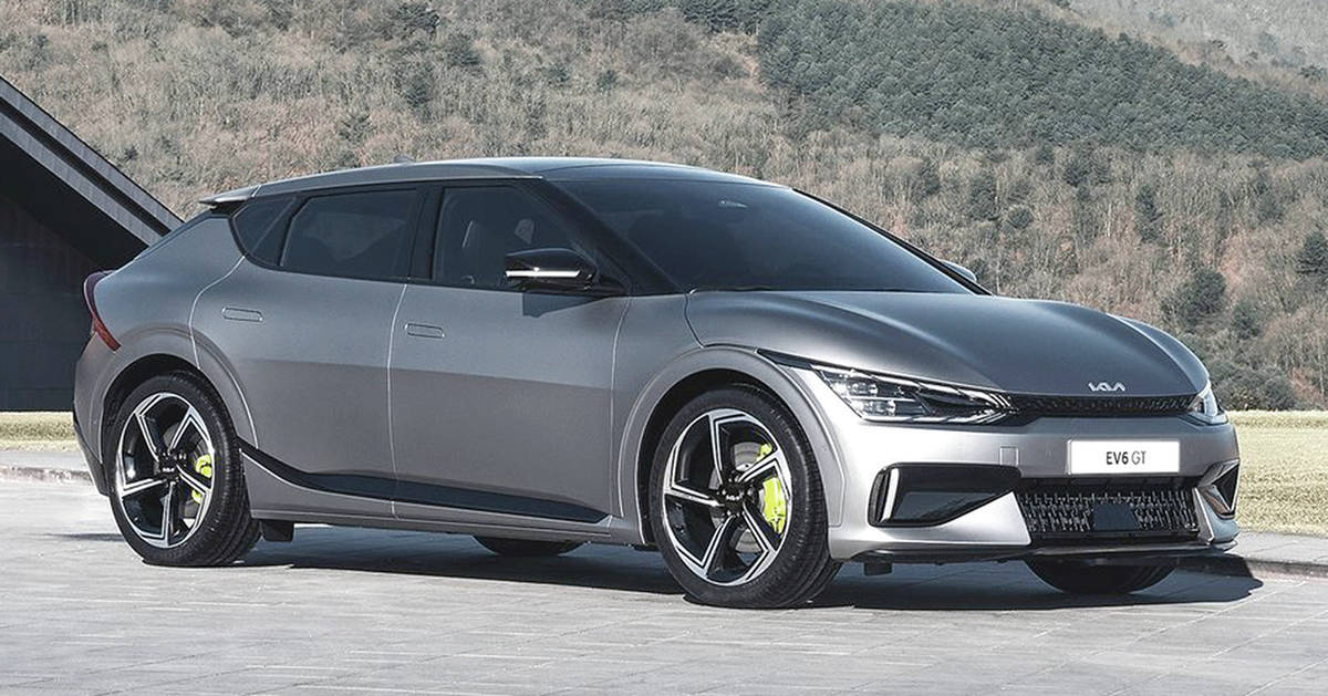 The Kia EV6 will be available in front- and all-wheel-drive and with power levels topping out at 577 horses. PHOTO: KIA