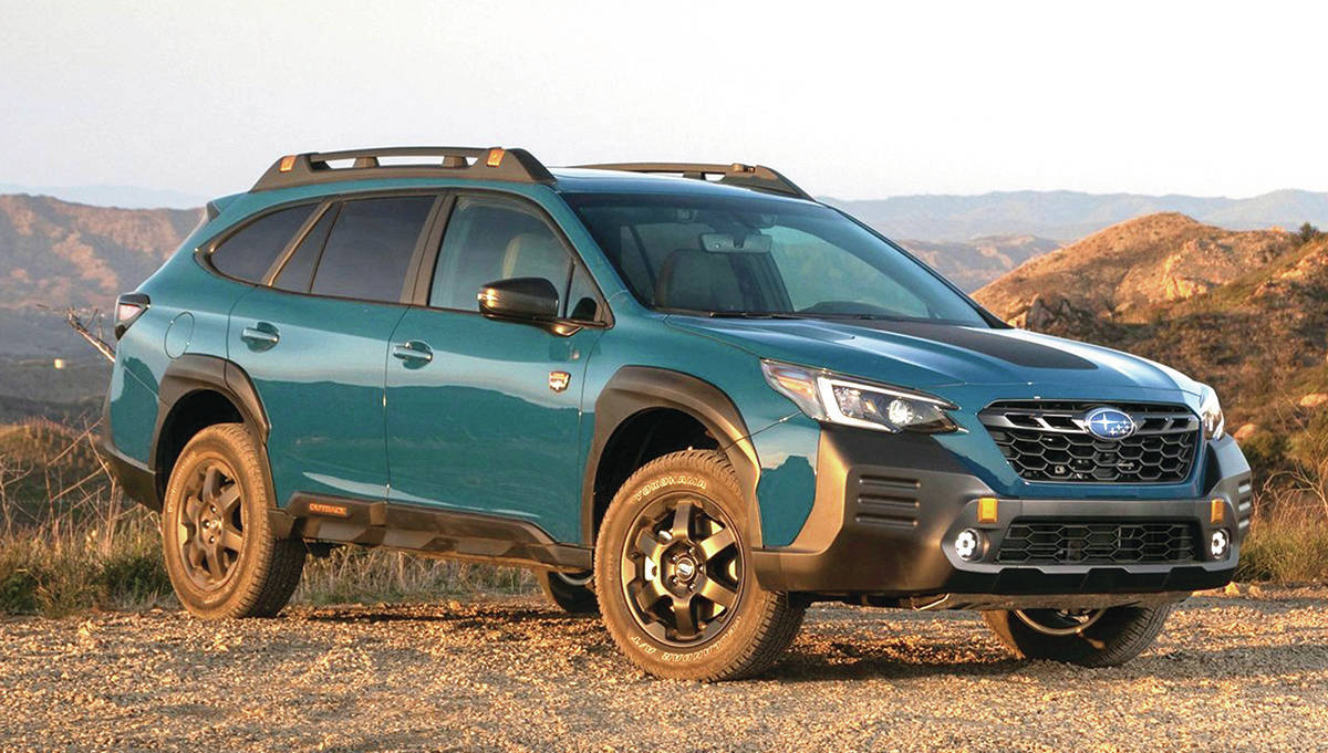 The Outback Wilderness has increased ride height and a front skid plate to prevent damage when off-roading. PHOTO: SUBARU