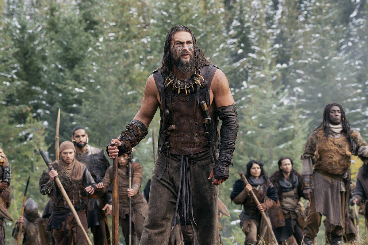 """Jason Momoa is seen here as Baba Voss in the Apple+ series """"See"""", partially filmed in Harrison Mills. Momoa is coming back to Canada to film 'Aquaman and the Lost Kingdom,' but specific filming locations are currently under wraps. (Photo/Apple)"""