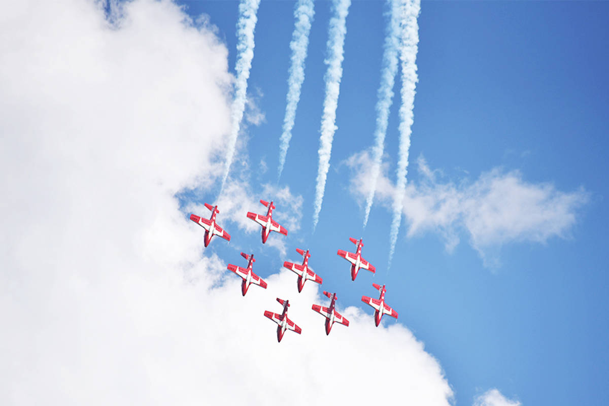 The CF Snowbirds will still be a part of the Abbotsford International Airshow this year, but fireworks have been cancelled due to the fires burning in the province. (Erin Haluschak photo)