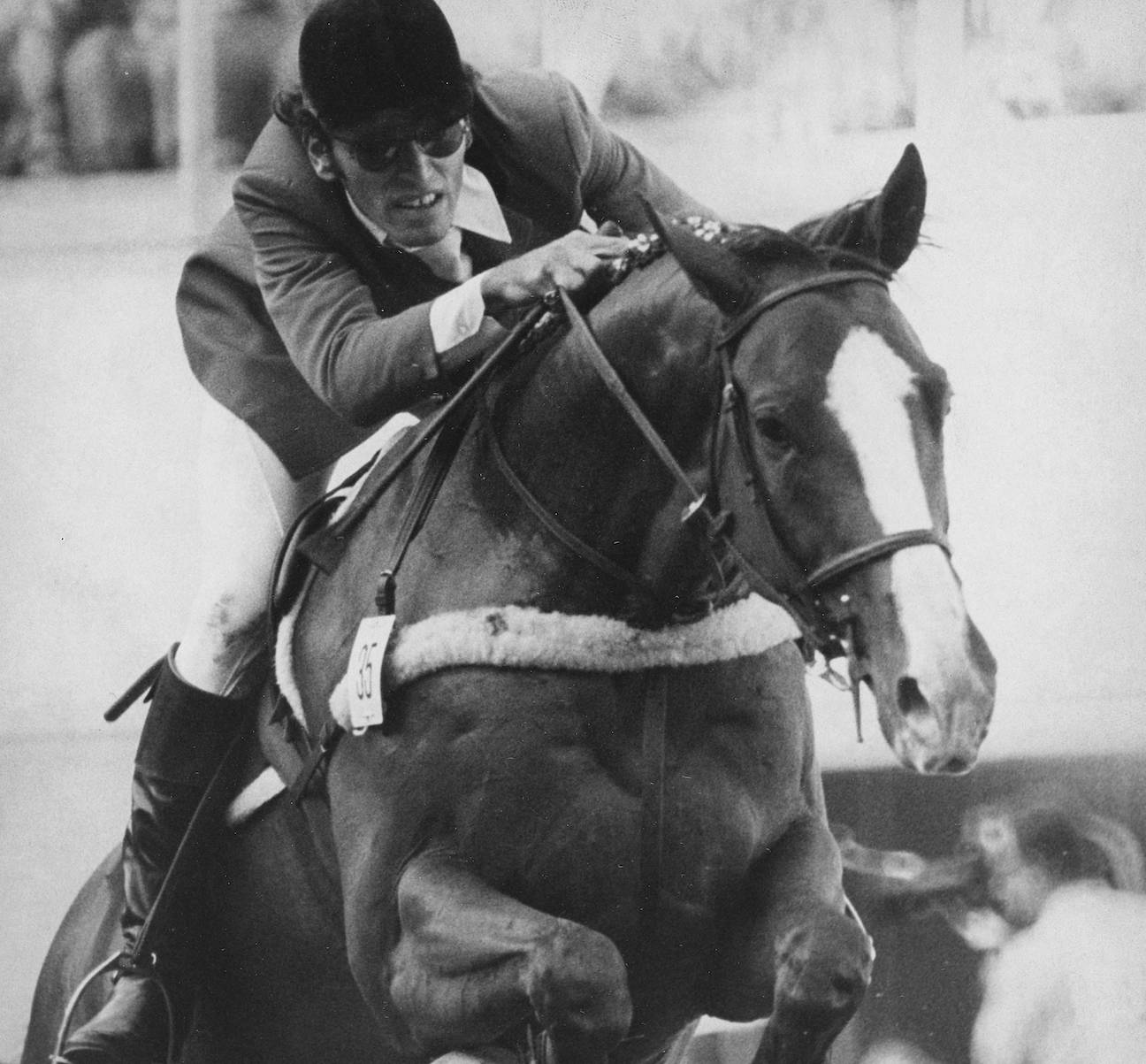 Michel Vaillancourt of Hudson, Que. clears a jump aboard Branch County during the Grand Prix Team Jumping event, Aug. 1, 1976 at the Montreal Summer Olympics. Canada finished fifth in the event. THE CANADIAN PRESS/Lynn Ball