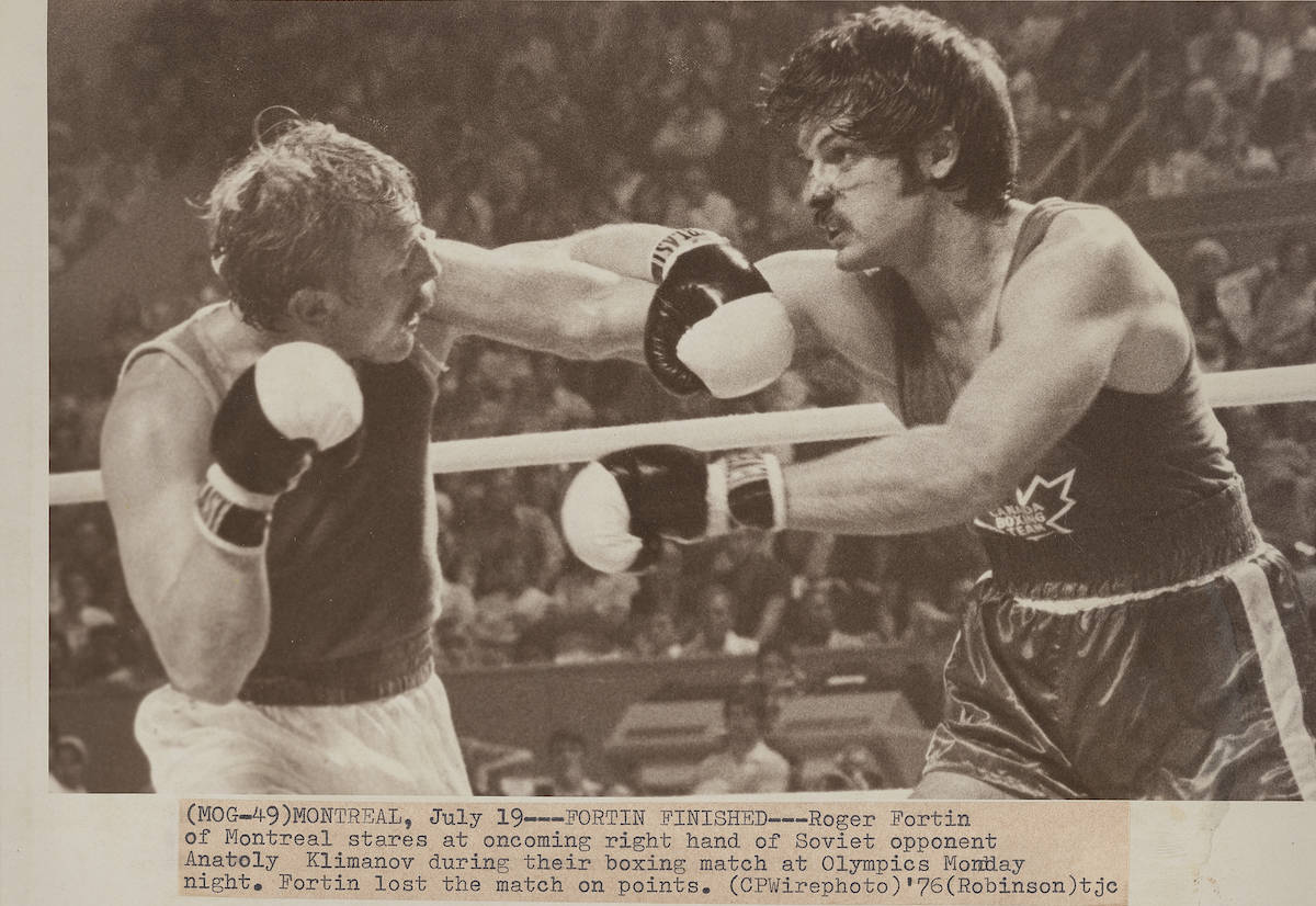 From the archival file folder: Montreal Summer Olympics 1976: Boxing. THE CANADIAN PRESS/files