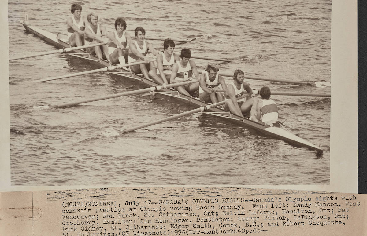 Montreal Summer Olympics 1976: Rowing. THE CANADIAN PRESS/files
