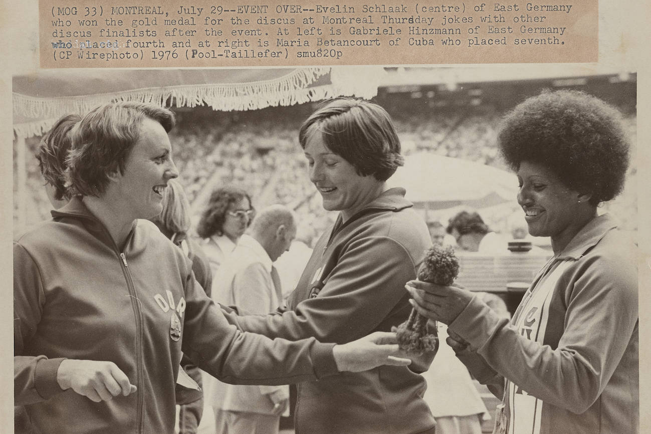 Montreal Summer Olympics 1976: Track and Field, Throwing Events. THE CANADIAN PRESS/files